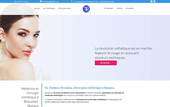 Création d'un site Web chirurgien esthétique Monaco