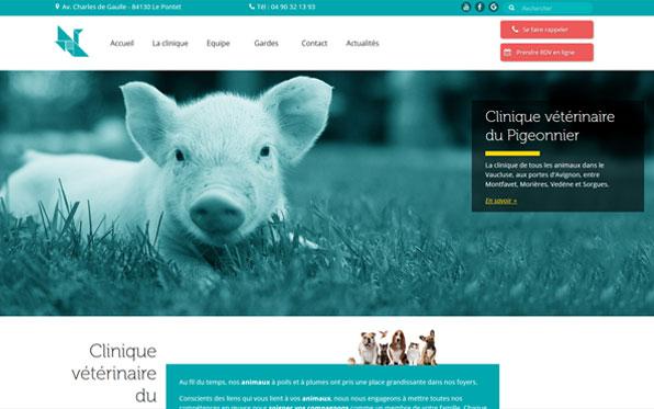 Création site web clinique vétérinaire