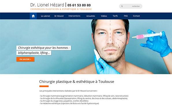 Refonte d'un site Web chirurgien esthétique Toulouse